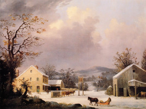 Art Prints of Jones Inn, Winter by George Henry Durrie