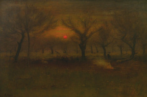 Art Prints of Sunrise in the Apple Orchard by George Inness