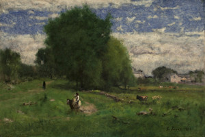 Art Prints of The Road to the Village, Milton by George Inness
