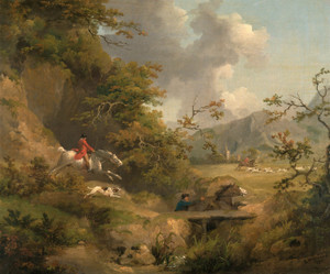 Art Prints of Foxhunting in Hilly Country by George Morland