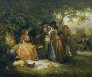 Art Prints of The Anglers Repast by George Morland