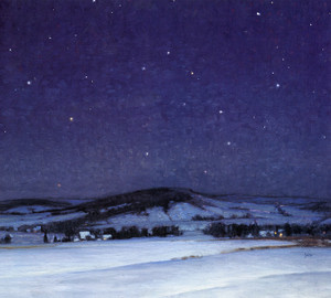 Art Prints of Moonlight, Bucks County by George Sotter