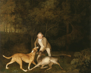 Art Prints of Freedom, the Earl of Clarendon's Gamekeeper by George Stubbs