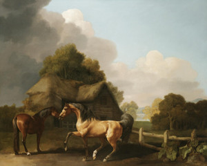 Art Prints of Stallion and Mare by George Stubbs