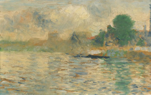 Art Prints of Berge de la Seine by Georges Seurat