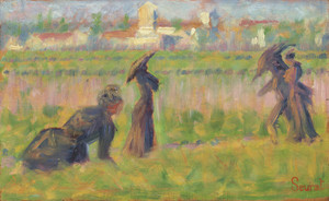 Art Prints of Figures in a Landscape, 1883 by Georges Seurat