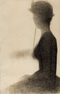 Art Prints of Seated Woman with Parasol, Study for la Grande Jatte by Georges Seurat