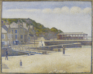 Art Prints of Port en Bessin by Georges Seurat