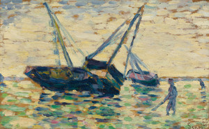 Art Prints of Three Boats by Georges Seurat
