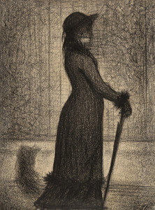 Art Prints of Woman Strolling by Georges Seurat