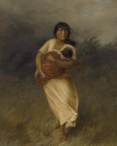 Art Prints of Back to Her Tribe by Grace Carpenter Hudson