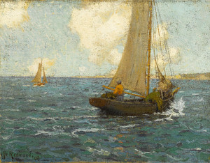 Art Prints of Sailboats on Calm Seas by Granville Redmond