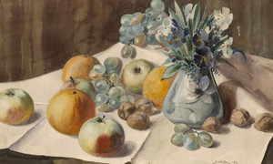 Art Prints of Still Life with Flowers, Fruit and Nuts, 1904 by Gunnar Widforss