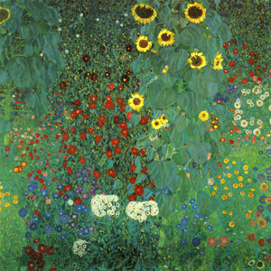 Art Prints of Farm Garden with Sunflowers by Gustav Klimt