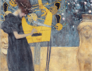 Art Prints of Musik I by Gustav Klimt