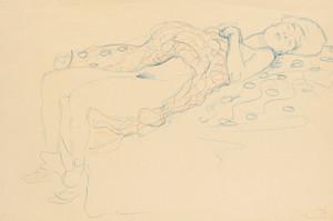 Art Prints of Reclining Semi Nude by Gustav Klimt