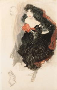 Art Prints of Study for Judith II by Gustav Klimt