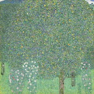 Art Prints of Rosebushes Under the Trees by Gustav Klimt