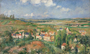 Art Prints of Hermitage in Summer, Pontoise by Gustave Caillebotte