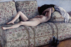 Art Prints of Nude on a Couch by Gustave Caillebotte