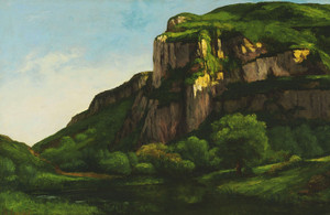 Art Prints of Rocks at Mouthier by Gustave Courbet