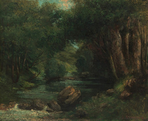 A Brook in the Forest by Gustave Courbet | Fine Art Print
