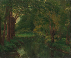 A Brook in a Clearing by Gustave Courbet | Fine Art Print