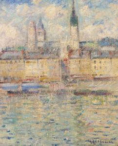 Art Prints of Rouen Harbor by Gustave Loiseau