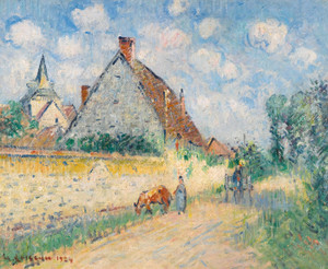 Art Prints of Cottage at Notre Dame, Eure by Gustave Loiseau