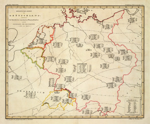 Art Prints of Botanical Map of Germany, 1841 (2515052) by Heinrich Berghaus