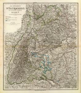 Art Prints of Wurtemberg Baden, 1856 (2077021) by Heinrich Kiepert and C.F. Weiland
