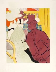 An Englishman at the Moulin Rouge II by Henri de Toulouse-Lautrec | Fine Art Print