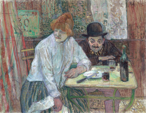 Art Prints of At the Cafe La Mie by Henri de Toulouse-Lautrec