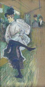 Art Prints of Jane Avril Dancing by Henri de Toulouse-Lautrec