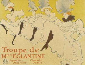 Art Prints of La Troupe De Mlle Eglantine by Henri de Toulouse-Lautrec