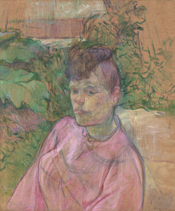 Art Prints of Woman in the Garden of Monsieur Forest by Henri de Toulouse-Lautrec