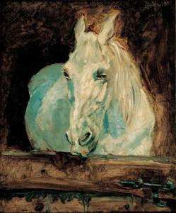 Art Prints of The White Horse Gazelle 1881 by Henri de Toulouse-Lautrec