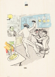 Art Prints of Dancing in the Achille Bar by Henri de Toulouse-Lautrec