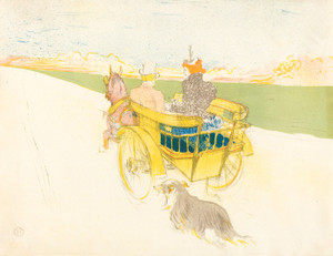Art Prints of Counting Outing, 1897 by Henri de Toulouse-Lautrec