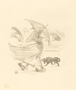 Art Prints of In the Rain by Henri de Toulouse-Lautrec