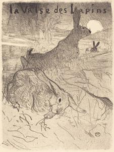 Art Prints of The Waltz, Rabbits, 1895 by Henri de Toulouse-Lautrec