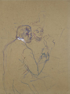 Art Prints of Snobbery or at Larue by Henri de Toulouse-Lautrec