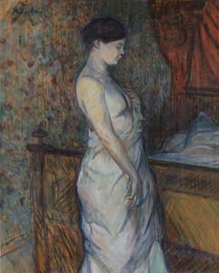 Art Prints of The Sleeping Woman, Madame Poupoule by Henri de Toulouse-Lautrec