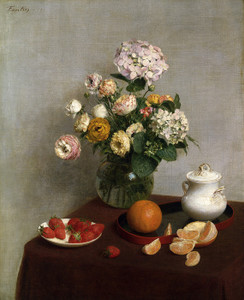 Art Prints of Summer Fruits and Flowers by Henri Fantin-Latour