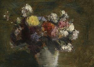Art Prints of Flowers in a Pot of White Porcelain by Henri Fantin-Latour