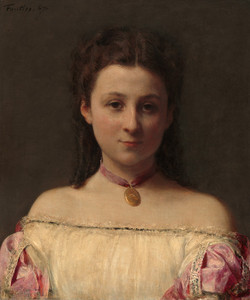 Art Prints of Mademoiselle de Fitz-James by Henri Fantin-Latour
