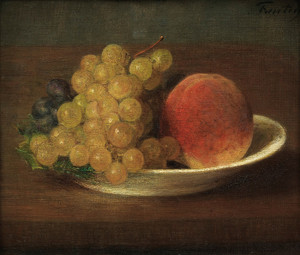 Art Prints of Grapes and Peaches by Henri Fantin-Latour