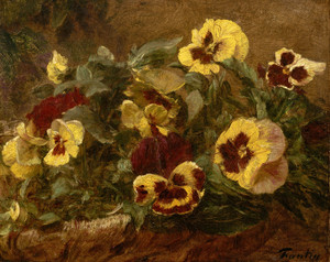 Art Prints of Pansies by Henri Fantin-Latour