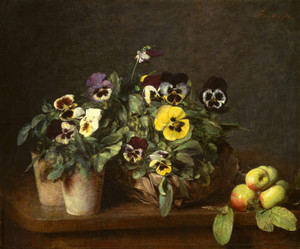 Art Prints of Still Life with Pansies by Henri Fantin-Latour