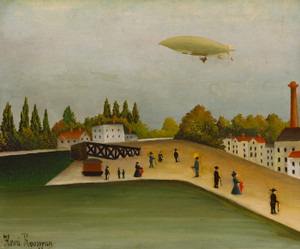 Art Prints of Quai d'Ivry by Henri Rousseau